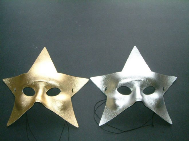 Gold or Silver Star Sun Mask